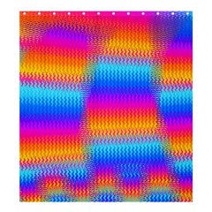Psychedelic Rainbow Heat Waves Shower Curtain 66  X 72  (large)  by KirstenStar