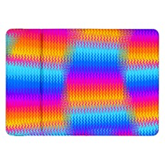 Psychedelic Rainbow Heat Waves Samsung Galaxy Tab 8 9  P7300 Flip Case by KirstenStar