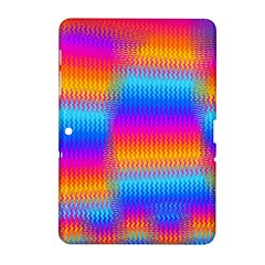 Psychedelic Rainbow Heat Waves Samsung Galaxy Tab 2 (10 1 ) P5100 Hardshell Case  by KirstenStar