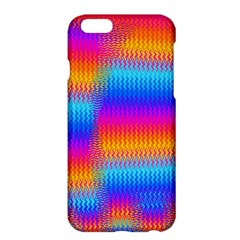 Psychedelic Rainbow Heat Waves Apple Iphone 6 Plus Hardshell Case by KirstenStar