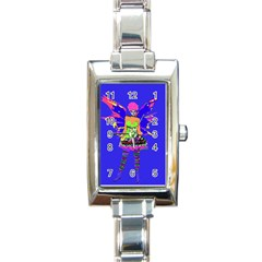Fairy Punk Rectangle Italian Charm Watches by icarusismartdesigns