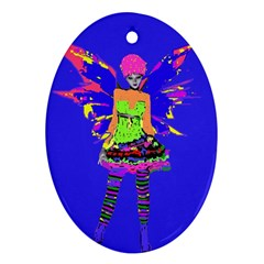 Fairy Punk Ornament (oval)  by icarusismartdesigns