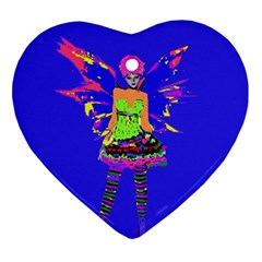 Fairy Punk Ornament (heart)  by icarusismartdesigns