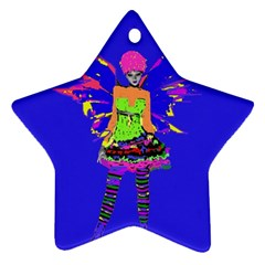 Fairy Punk Ornament (star)  by icarusismartdesigns