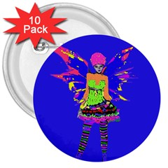 Fairy Punk 3  Buttons (10 Pack)  by icarusismartdesigns