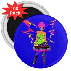 Fairy Punk 3  Magnets (100 Pack) by icarusismartdesigns