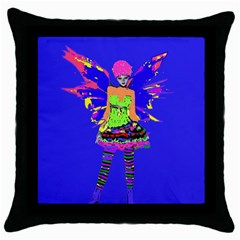 Fairy Punk Throw Pillow Cases (black) by icarusismartdesigns
