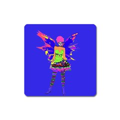 Fairy Punk Square Magnet by icarusismartdesigns