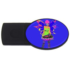 Fairy Punk Usb Flash Drive Oval (2 Gb)  by icarusismartdesigns