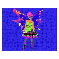 Fairy Punk Rectangular Jigsaw Puzzl by icarusismartdesigns