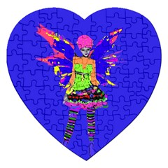 Fairy Punk Jigsaw Puzzle (heart) by icarusismartdesigns