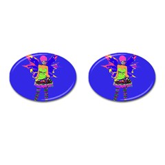 Fairy Punk Cufflinks (oval) by icarusismartdesigns