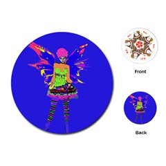 Fairy Punk Playing Cards (round)  by icarusismartdesigns