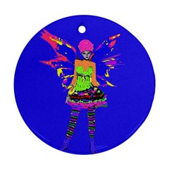 Fairy Punk Round Ornament (two Sides)  by icarusismartdesigns