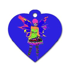 Fairy Punk Dog Tag Heart (two Sides) by icarusismartdesigns