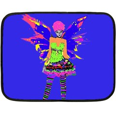 Fairy Punk Double Sided Fleece Blanket (mini)  by icarusismartdesigns