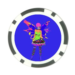 Fairy Punk Poker Chip Card Guards (10 Pack)  by icarusismartdesigns