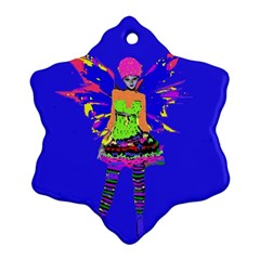 Fairy Punk Ornament (snowflake)  by icarusismartdesigns