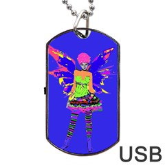 Fairy Punk Dog Tag Usb Flash (one Side) by icarusismartdesigns