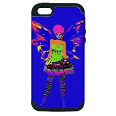 Fairy Punk Apple Iphone 5 Hardshell Case (pc+silicone) by icarusismartdesigns