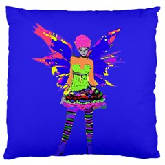 Fairy Punk Large Flano Cushion Cases (one Side)  by icarusismartdesigns