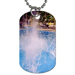 Splash 3 Dog Tag (two Sides) by icarusismartdesigns