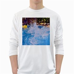 Splash 4 White Long Sleeve T Shirts by icarusismartdesigns