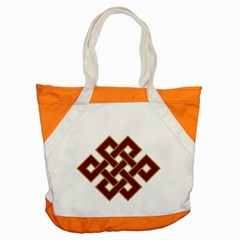 Buddhist Endless Knot Auspicious Symbol Accent Tote Bag by CrypticFragmentsColors