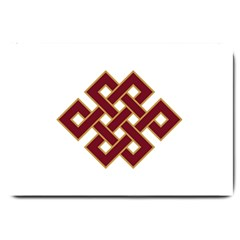 Buddhist Endless Knot Auspicious Symbol Large Doormat by CrypticFragmentsColors
