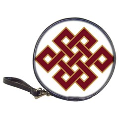 Buddhist Endless Knot Auspicious Symbol Classic 20 Cd Wallet by CrypticFragmentsColors