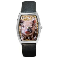 Sweet Piglet Barrel Metal Watches