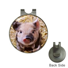 Sweet Piglet Hat Clips With Golf Markers