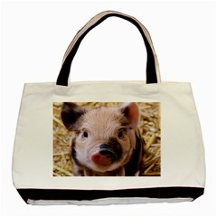 Sweet Piglet Basic Tote Bag (two Sides)