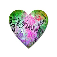 Abstract Music  Heart Magnet