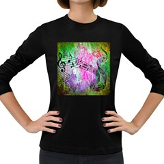 Abstract Music  Women s Long Sleeve Dark T-shirts by ImpressiveMoments