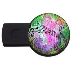 Abstract Music  Usb Flash Drive Round (4 Gb)