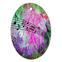 Abstract Music  Oval Ornament (two Sides)