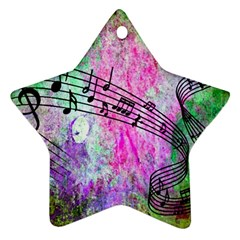 Abstract Music  Star Ornament (two Sides)