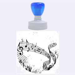 Abstract Music  Rubber Round Stamps (large)