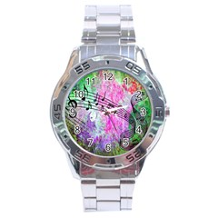 Abstract Music  Stainless Steel Men s Watch