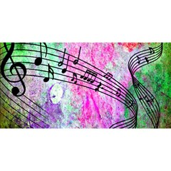 Abstract Music  You Are Invited 3d Greeting Card (8x4)