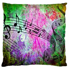 Abstract Music  Large Cushion Cases (one Side)