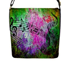 Abstract Music  Flap Messenger Bag (l)  by ImpressiveMoments