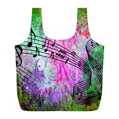 Abstract Music  Full Print Recycle Bags (l)