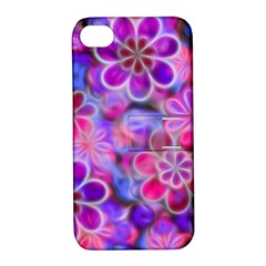 Pretty Floral Painting Apple Iphone 4/4s Hardshell Case With Stand by KirstenStar