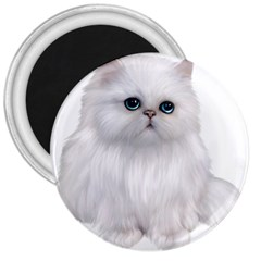 White Persian Cat Clipart 3  Magnets by AlteredStates