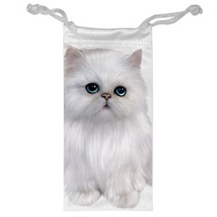 White Persian Cat Clipart Jewelry Bags by AlteredStates