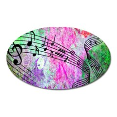 Abstract Music 2 Oval Magnet