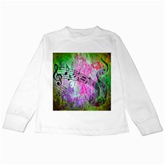 Abstract Music 2 Kids Long Sleeve T Shirts