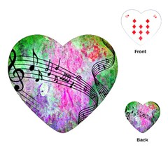 Abstract Music 2 Playing Cards (heart)